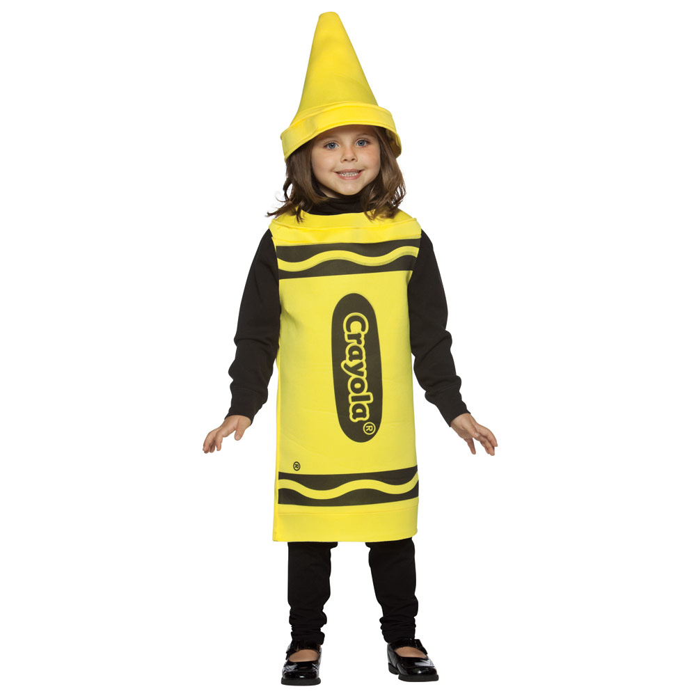 Children's Licensed Colourful Crayola Crayon Funny Fancy Dress Party Costume New