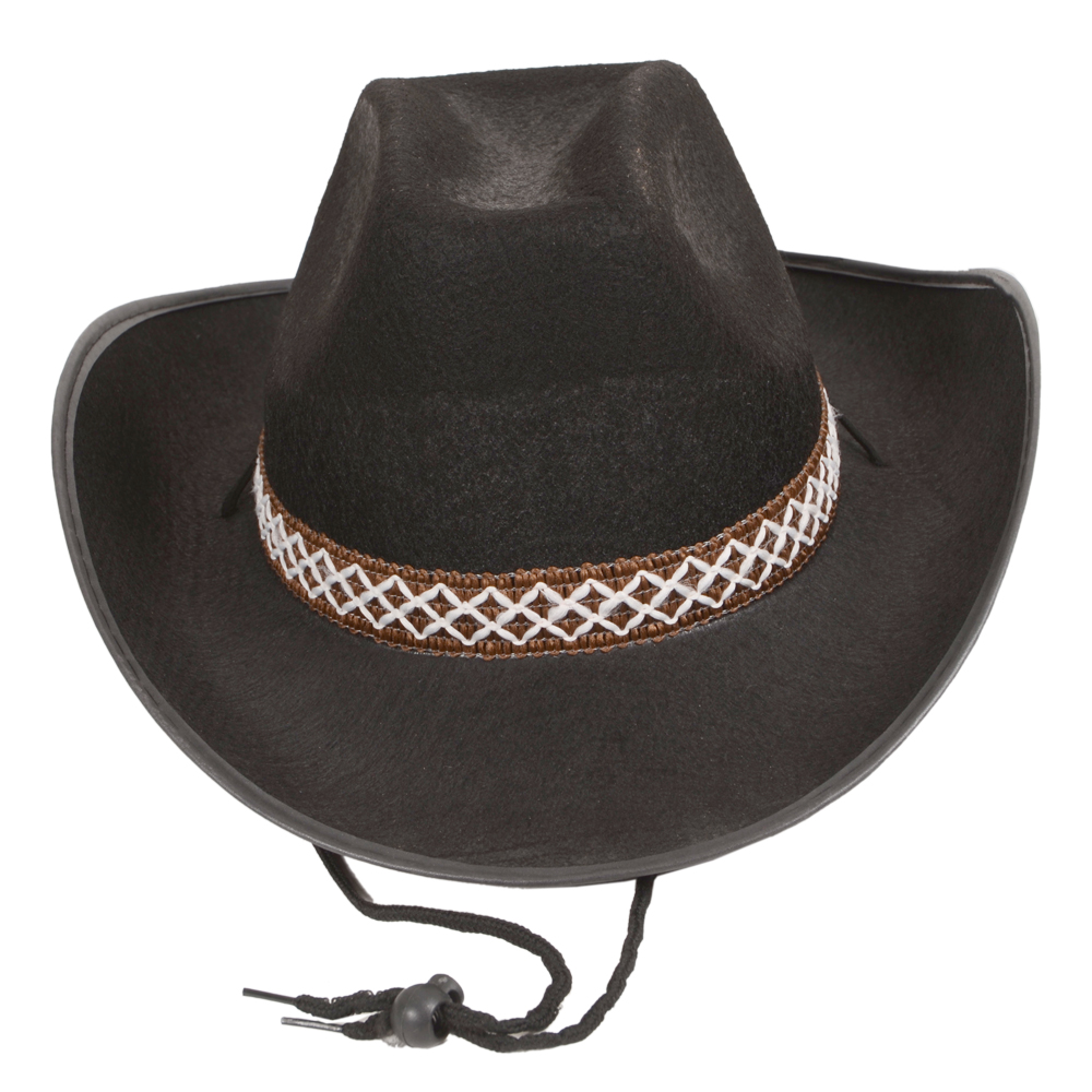 ... Cowboy Sheriff Rodeo 10 Gallon Wild West Party Gunslinger Stetson Hat 10 Gallon Cowboy Hat Front