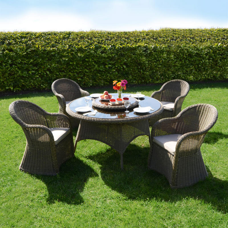 Azuma 5 Piece Cannes Wicker Rattan Garden Patio Conservatory Furniture Chairs & Table Set  Preview