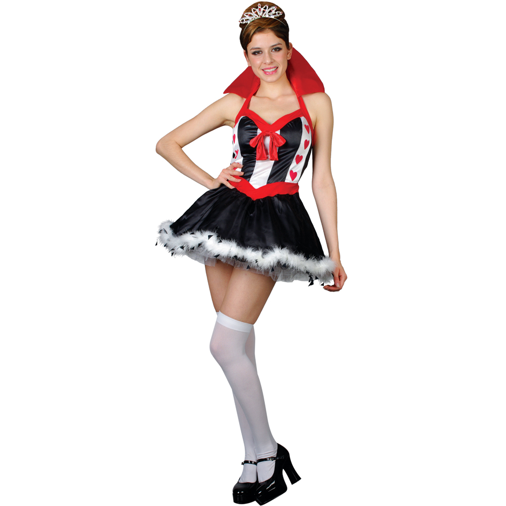 sexy herzk nigin verkleidung f r frauen karneval fasching halloween kost m xs ebay. Black Bedroom Furniture Sets. Home Design Ideas