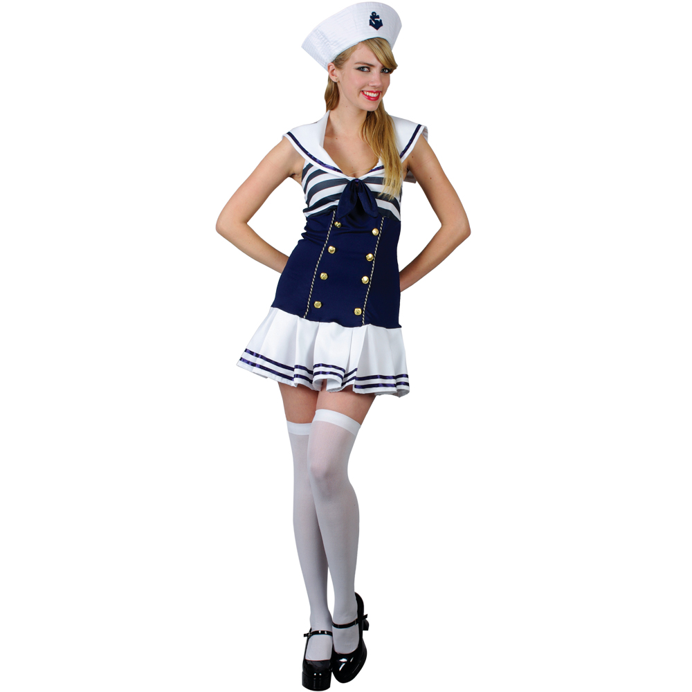 sexy seemann matrose frauen verkleidung fasching karneval halloween kost m xs ebay. Black Bedroom Furniture Sets. Home Design Ideas