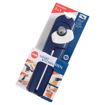 Emsa 3 in 1 Smart Kitchen Multipurpose Handy Can & Tin Opener With Resealable Can Lid Feature