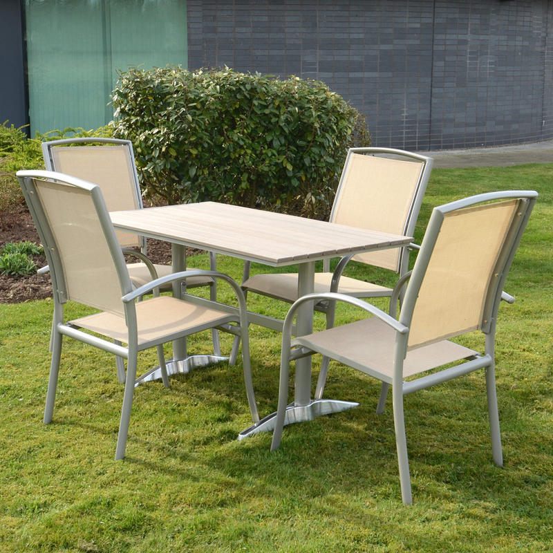 azuma naples 5pc table chairs garden outdoor dining