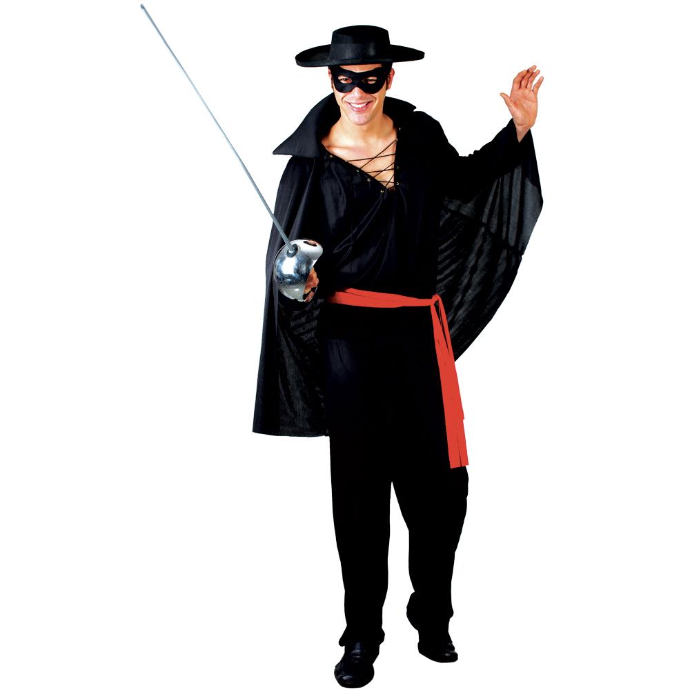 zorro spanischer bandit maske m nner verkleidung halloween karneval kost m xl ebay. Black Bedroom Furniture Sets. Home Design Ideas