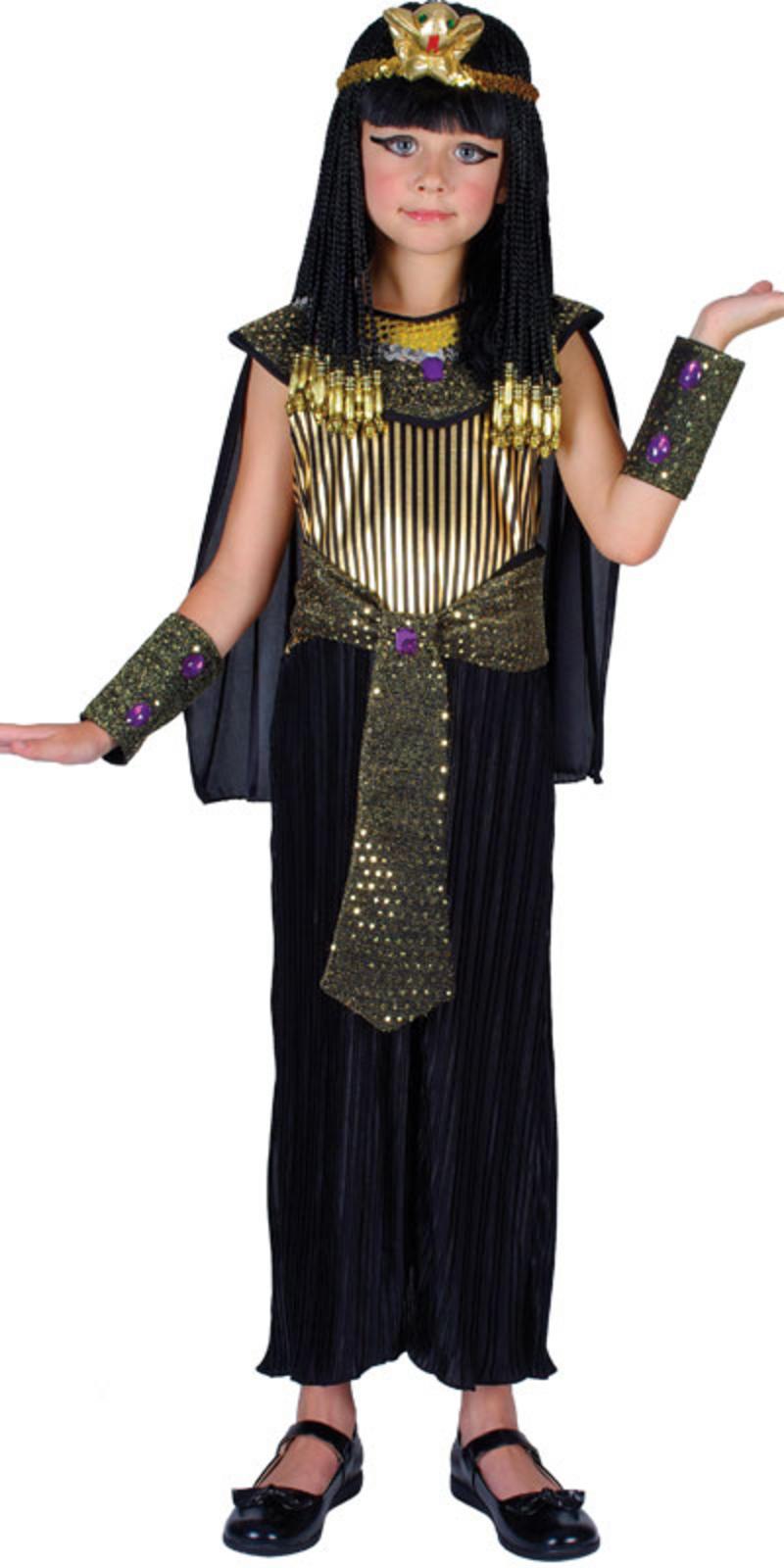 gyptische k nigin kleopatra verkleidung f r m dchen fasching karneval kost m m. Black Bedroom Furniture Sets. Home Design Ideas