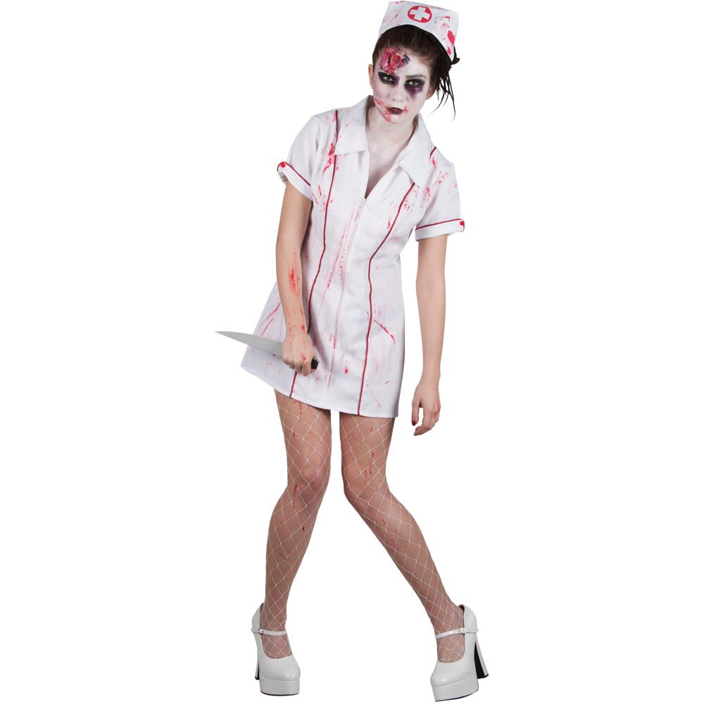 zombie krankenschwester horror verkleidung frauen halloween kost m 46 48 ebay. Black Bedroom Furniture Sets. Home Design Ideas