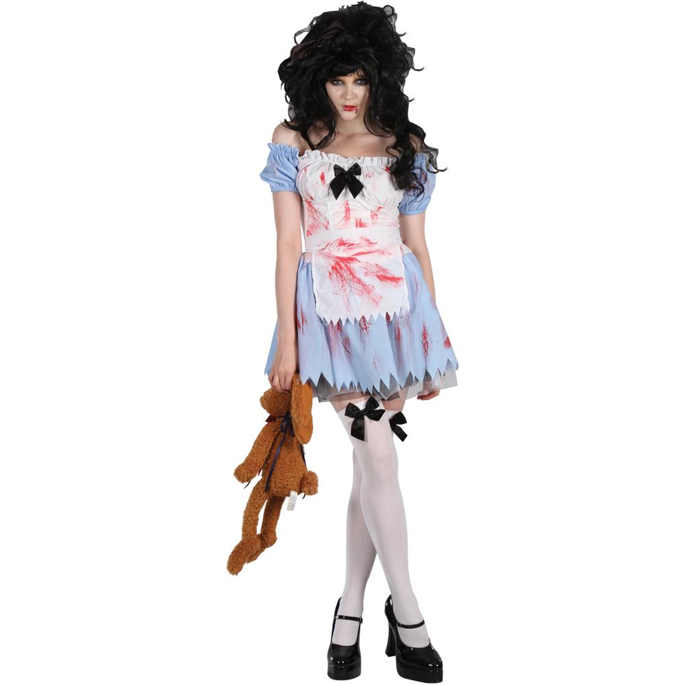 alice im zombieland horror verkleidung frauen party halloween kost m 38 40 ebay. Black Bedroom Furniture Sets. Home Design Ideas