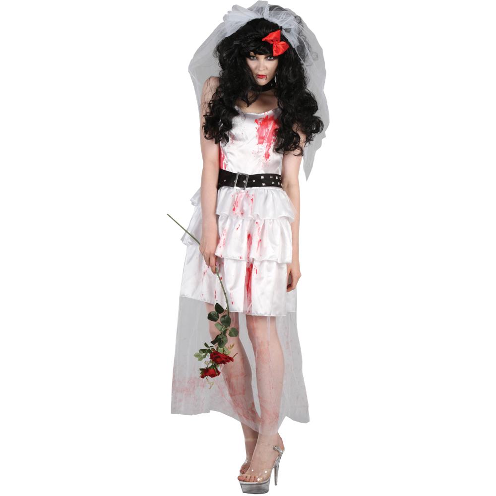 verwunschene zombie braut horror verkleidung frauen halloween kost m 42 44 ebay. Black Bedroom Furniture Sets. Home Design Ideas