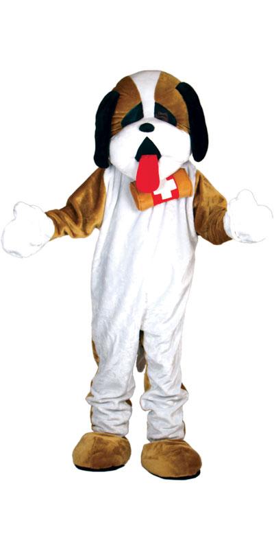 riesig bernhardiner hund maskottchen halloween verkleidung karneval tier kost m ebay. Black Bedroom Furniture Sets. Home Design Ideas