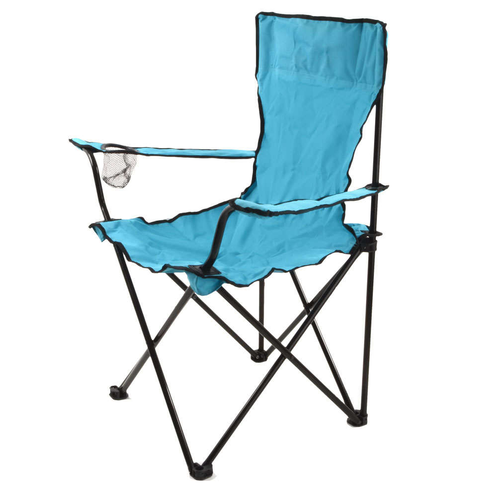 Folding outdoor camping fishing festival beach cup holder arm chair