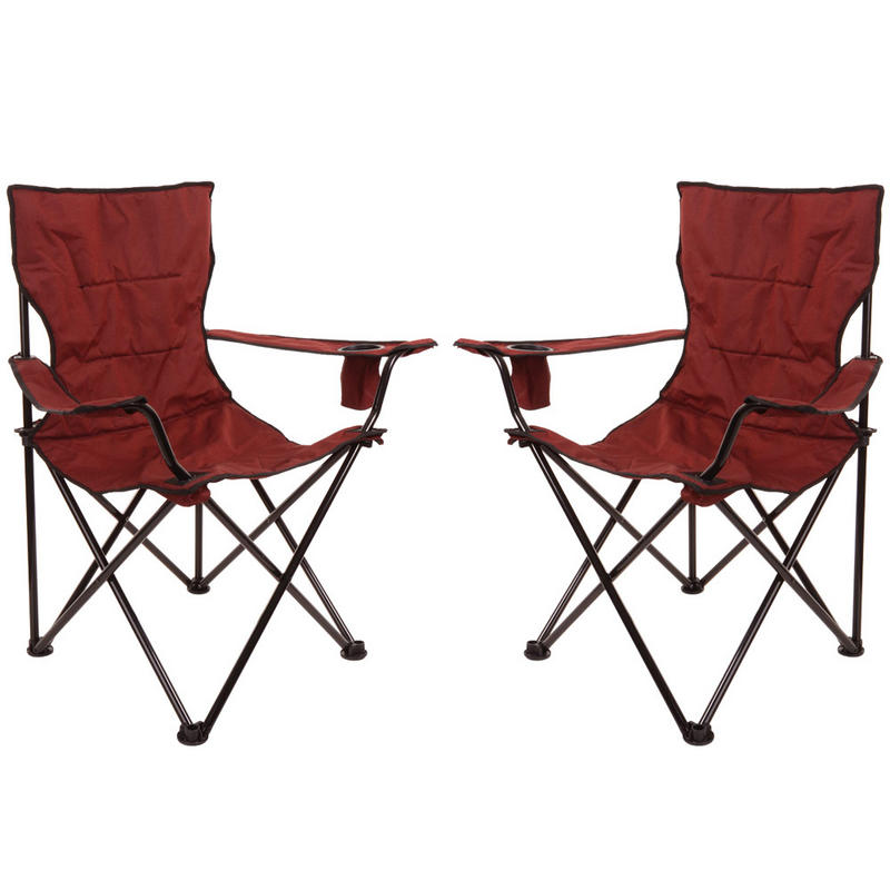 2 x Azuma Deluxe Padded Folding Camping Outdoor Summer ...