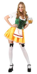 Womens Bavarian Maid Beer Festival Server Fancy Dress Outfit