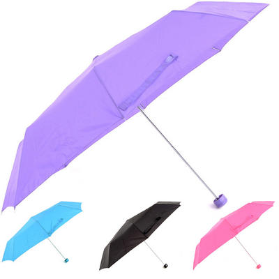 Super Mini Umbrella With Glitter Handle By Drizzles In A Compact Hand Bag Size Black Pink Lilac Turquoise