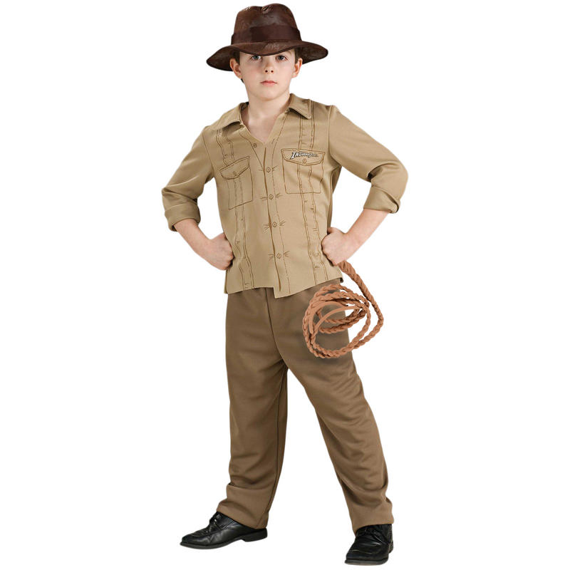 Boys Rubies Officially Licenced Childrens Indiana Jones Fancy Dress Costume