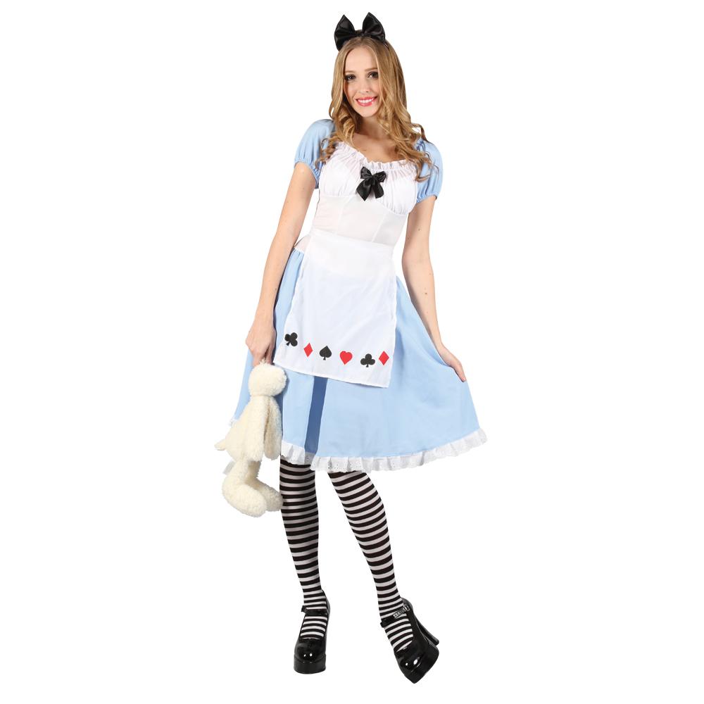 Ladies Sexy Adorable Alice Wonderland Halloween Party Fancy Dress ...