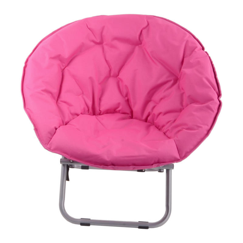 Azuma Pink Padded Folding Outdoor Camping Festival Garden Moon Chair Seat New