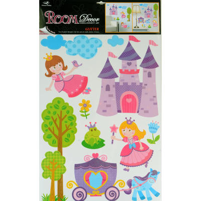 Wholesale Job Lot 48 x Fantastic Removable Glitter Wall Bedroom Room Stickers - Fairytale Princess Design