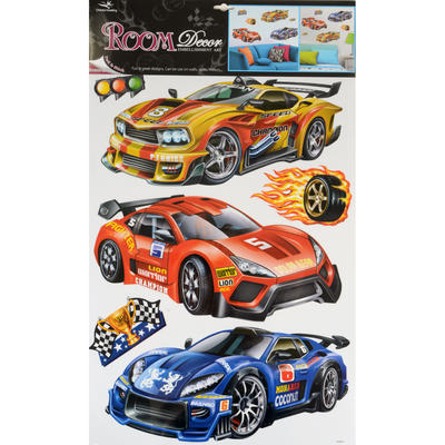 Wholesale Job Lot 48 x Fantastic Removable Boys Wall Bedroom Room Stickers - Race Car Design