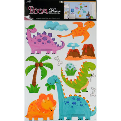 Wholesale Job Lot 48 x Fantastic Removable Boys Wall Bedroom Room Stickers - Prehistoric Dinosaurs Design