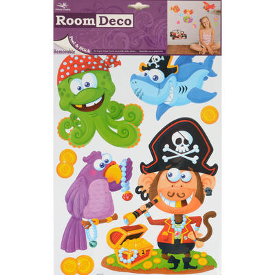 Wholesale Job Lot 48 Packs Fantastic Removable Boys Wall Bedroom Room Stickers - Pirates Design