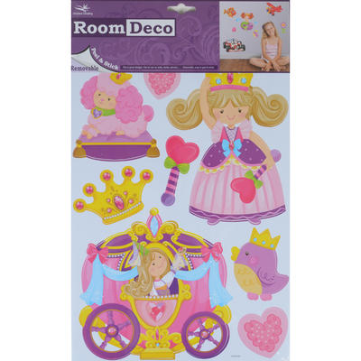 Wholesale Job Lot 48 Packs Fantastic Removable Girls Wall Bedroom Room Stickers - Fairytale Princess Design