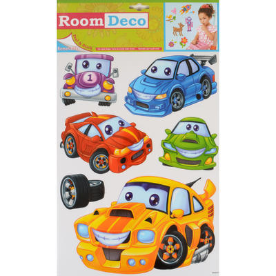 Wholesale Job Lot 48 Packs Fantastic Removable Boys Wall Bedroom Room Stickers - Cute Cars Design