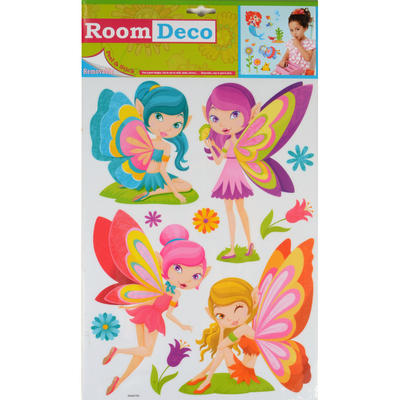 Wholesale Job Lot 48 Packs Fantastic Removable Girls Wall Bedroom Room Stickers - Multi Fairies Design