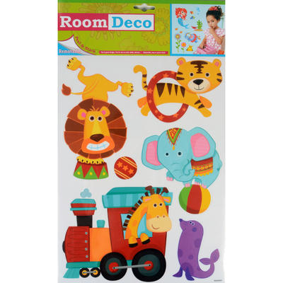 Wholesale Job Lot 48 Packs Fantastic Removable Girls Boys Wall Bedroom Room Stickers - Animals Design