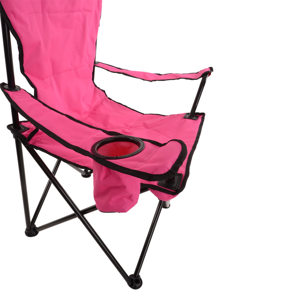Azuma Deluxe Easy Fold Away Padded Camping Chair Drinks Holder & Pocket