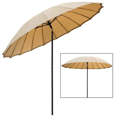 azuma 2 5m tilting parasol sun shade canopy umbrella garden outdoor patio pink