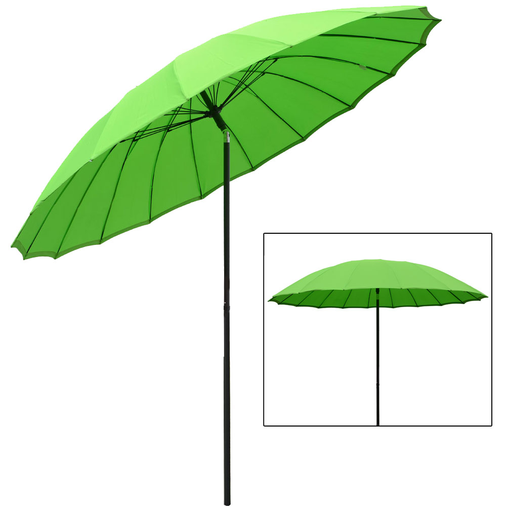 Azuma Lime Green 2.5m Tilting Parasol Sun Shade Garden Patio Umbrella Brolly