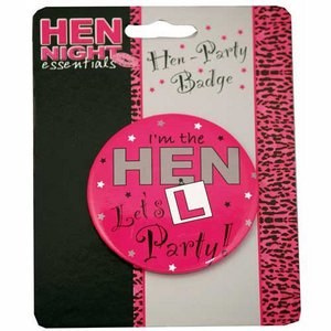 Wholesale Job Lot 100 x Hen Night Badges Ideal For Card / Gift Shop / Market