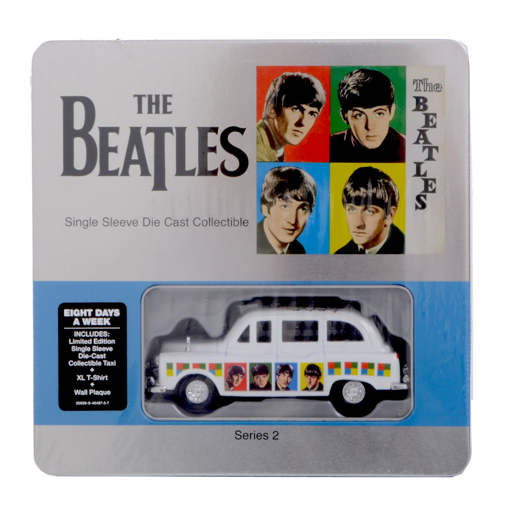 The-Beatles-Limited-Edition-Collectable-Die-Cast-Taxi-Tin-T-Shirt-amp-Wall-Plaque