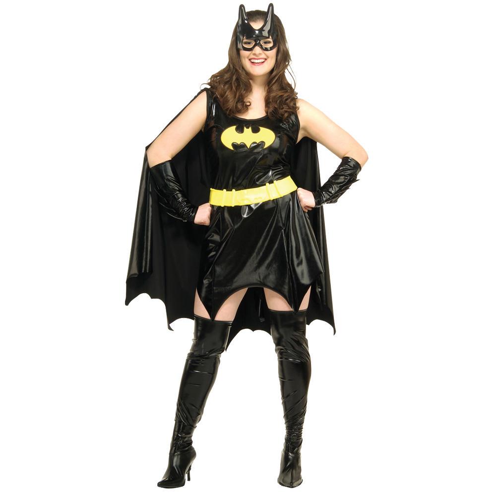 Ladies Sexy Super Hero Batgirl Fancy Dress Party Halloween ...