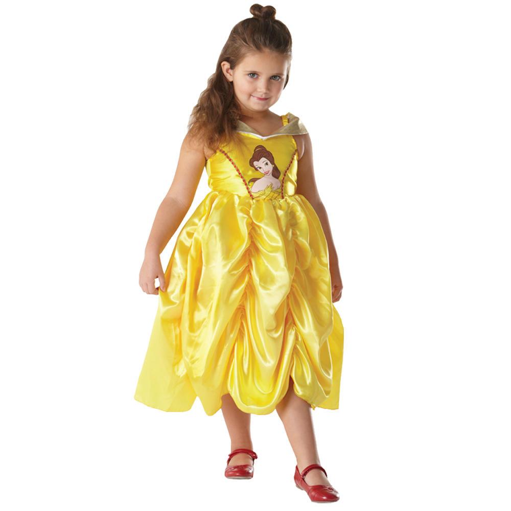 Halloween Girls Princess Fancy Dress Up Costume Outfits: Childs Girls Disney Princess Belle Fancy Dress Up Party