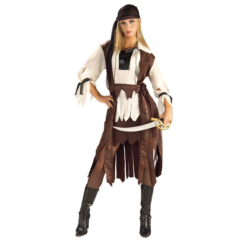 Ladies Caribbean Pirate Babe Fancy Dress Up Party Halloween Festival Costume