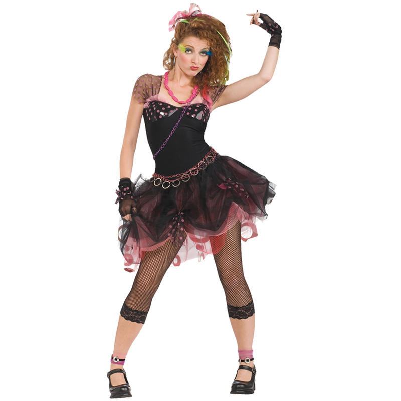Ladies 80 39 s diva fancy dress up theme party pop icon for Rockabilly outfit damen