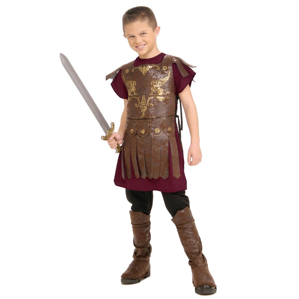 Boys Roman Ancient Warrior Soldier Gladiator Fancy Dress ...
