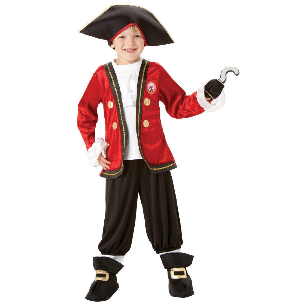 Disney Captain Hook Neverland Pirate Boys Fancy Dress Halloween ...