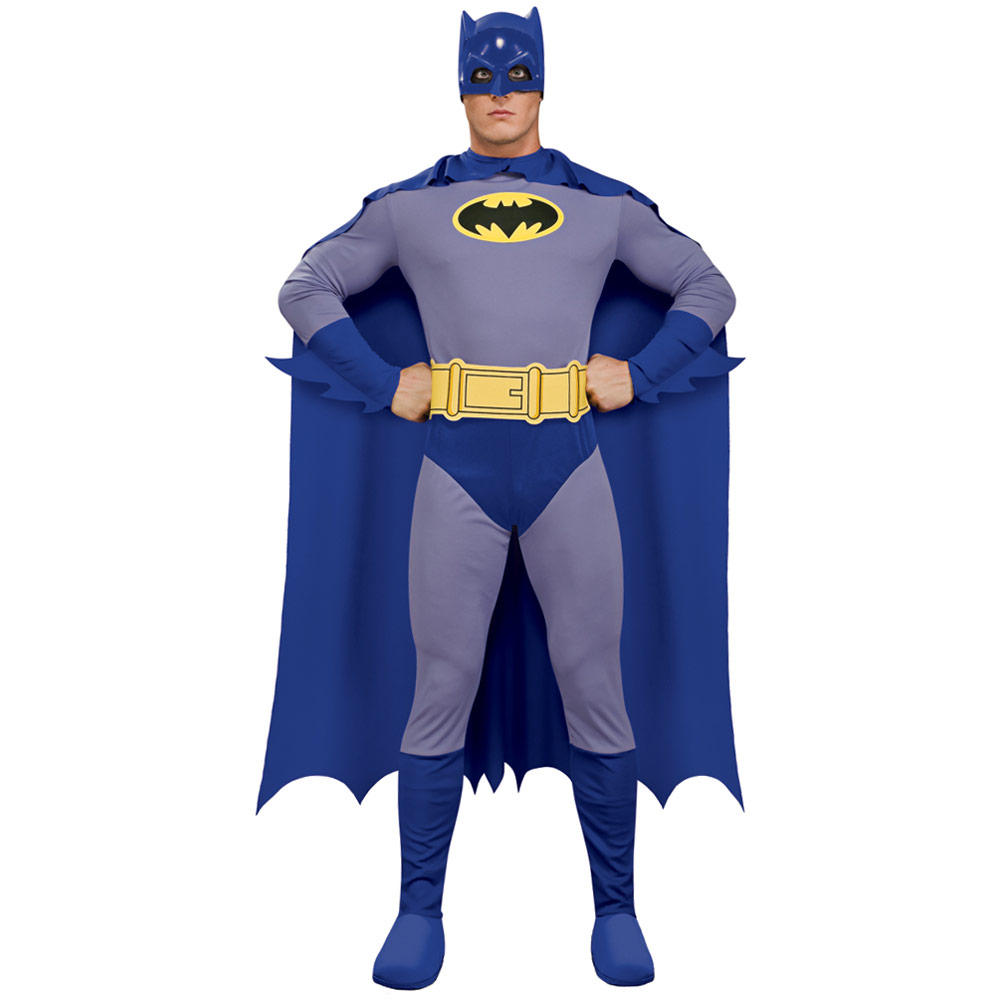 Brave & Bold Batman DC Comics Hero Mens Fancy Dress