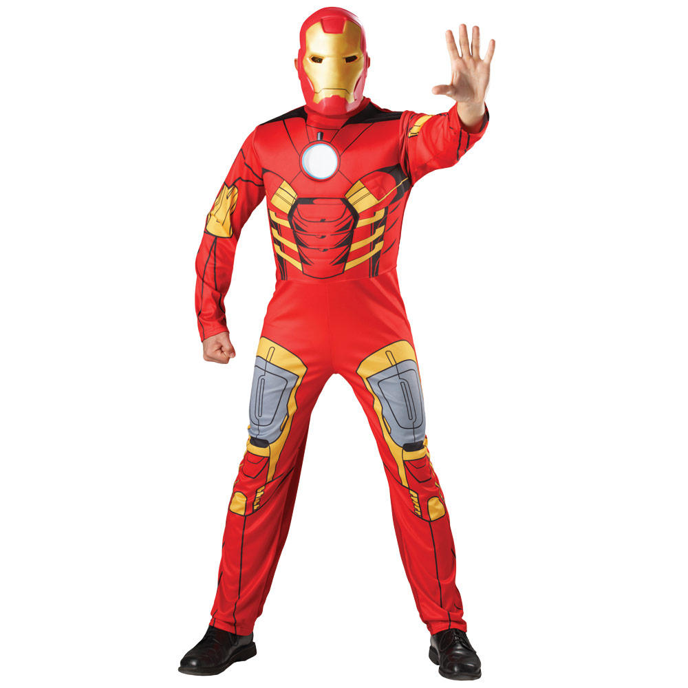 adults avengers assemble iron man tony stark fancy dress halloween costume. Black Bedroom Furniture Sets. Home Design Ideas