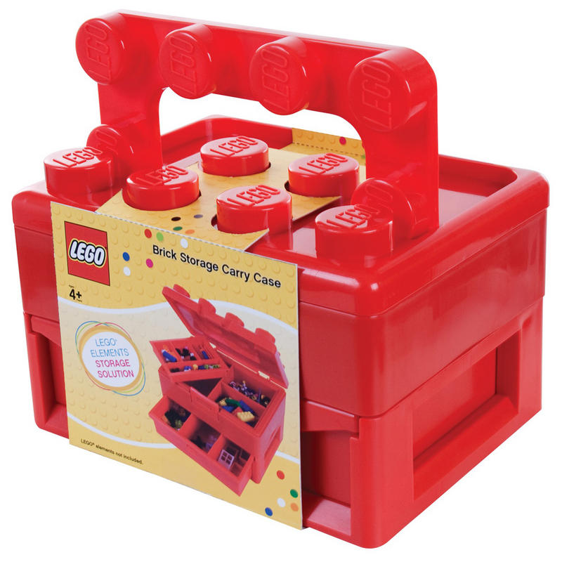 LEGO Brick Storage Carry Case With Fold Out Handle Toy Box Organiser Compartments Toy Box