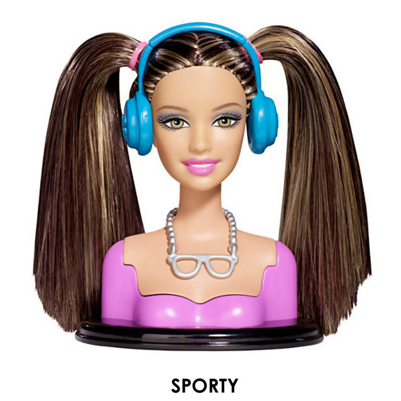 Barbie Fashionistas Swappable Fashion Head For Swappin' Styles Doll
