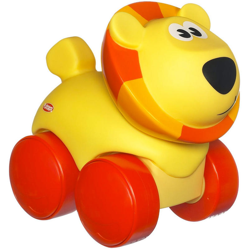Squishy Critters Lion Or Cow Musical Toy Animal Noises Roar Or Moo 1 Year+ Playskool Wheel Pals