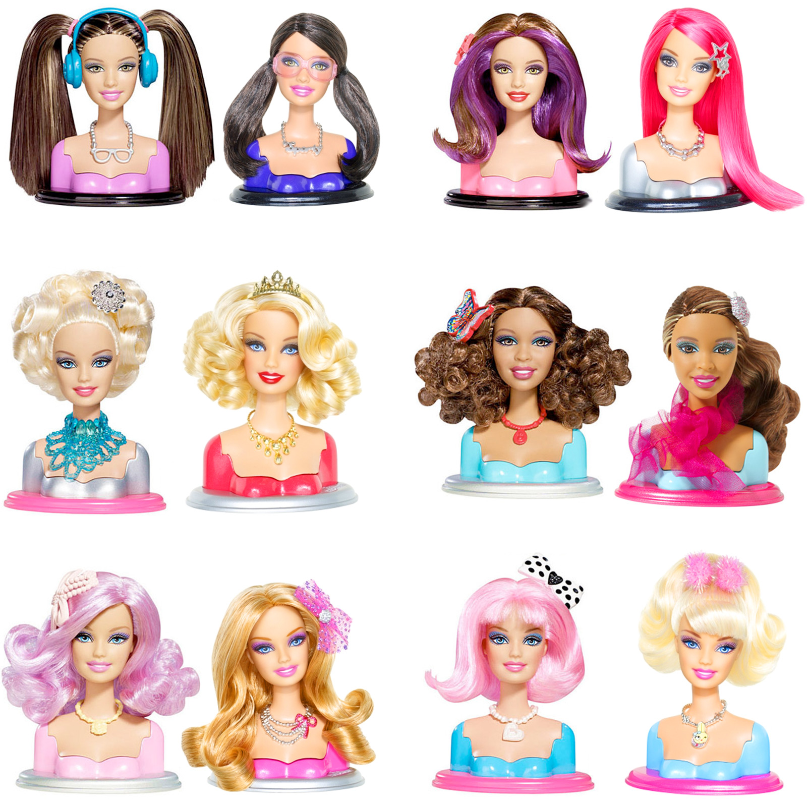 Barbie fashionistas swappin styles heads 61