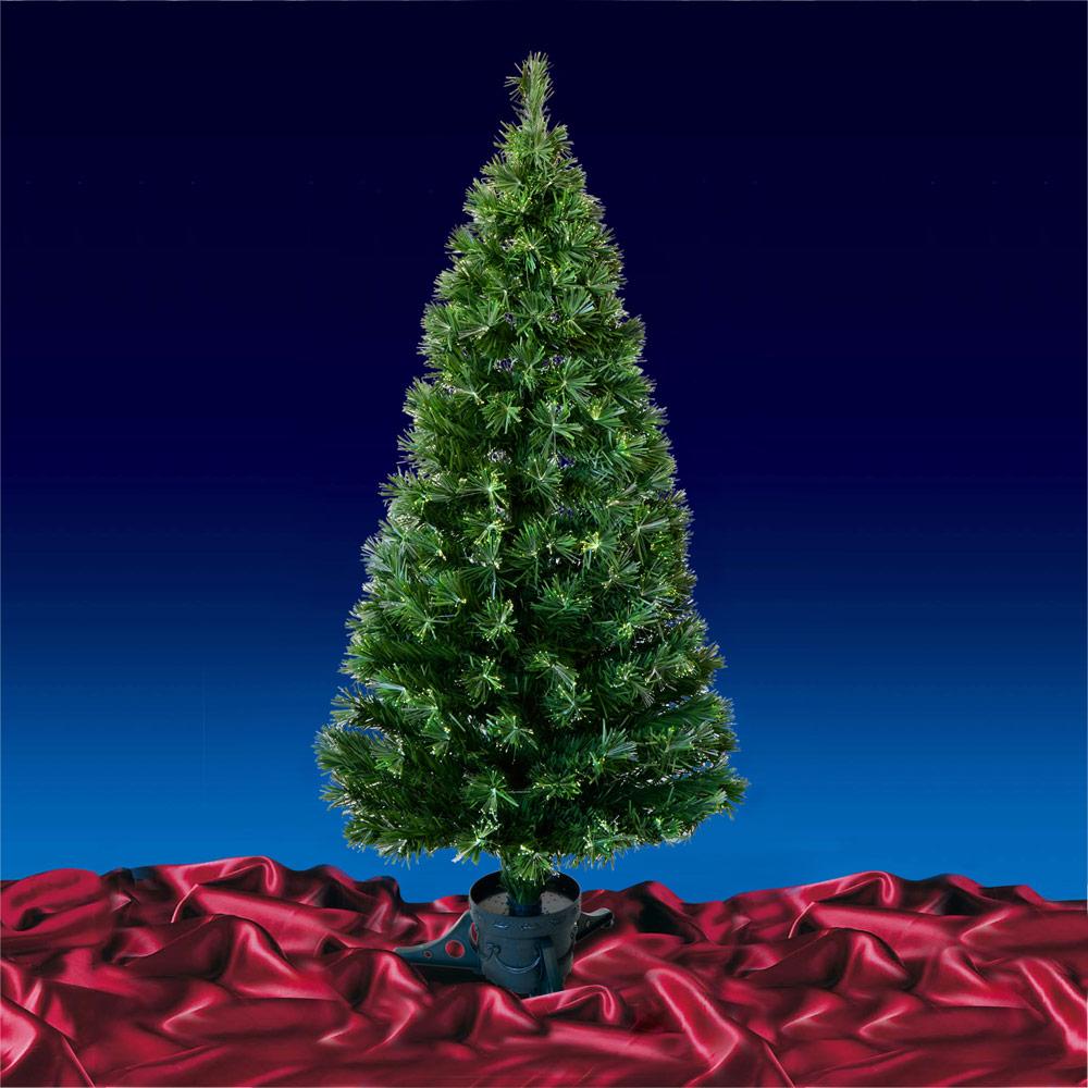 5ft 150cm Green Fibre Optic Open Burst Artificial Indoor Christmas Xmas Tree