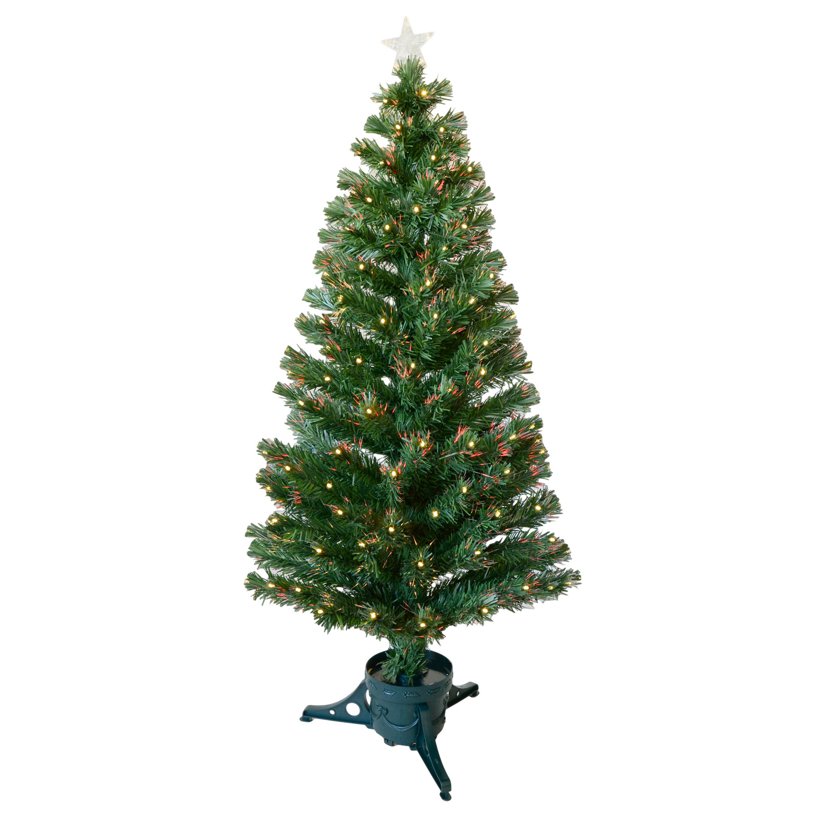 5ft 150cm Green Fibre Optic Artificial Indoor Christmas Xmas Tree With LED Tips
