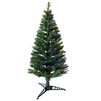 5ft 150cm Beautiful Green Christmas Tree With Multi Coloured Fibre Opics