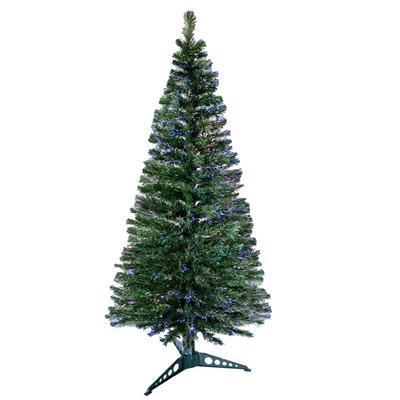 6ft 180cm Beautiful Green Christmas Tree With Multi Coloured Fibre Opics