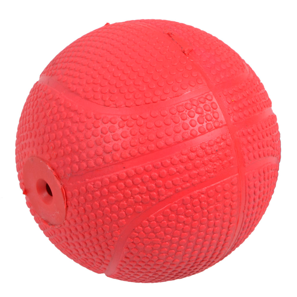 Red Ball Toy : Cm red rubber textured puppy dog pooch pet ball fetch